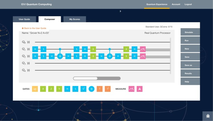 IBM Quantum Computing programming dashboard