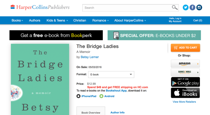 Harpercollins Inexplicably Turns To Bookshout To Offer Ebook