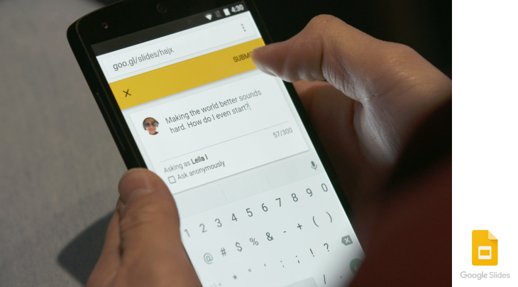 google launches slides q a to help presenters connect with their