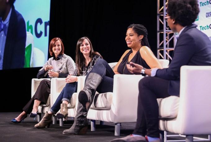 L-R: Danielle Mastrangel Brown (Intel), Carissa Romero (Paradigm), Erica Baker (Slack)