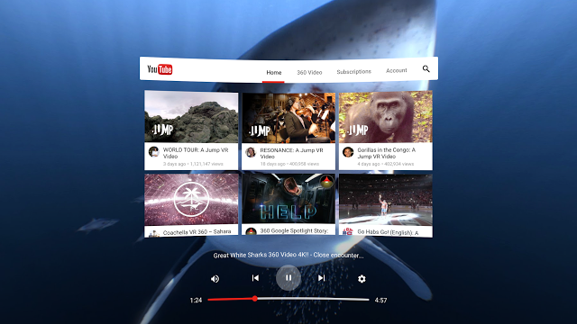 4093e4cfa7a YouTube shows off dedicated VR app for Daydream platform