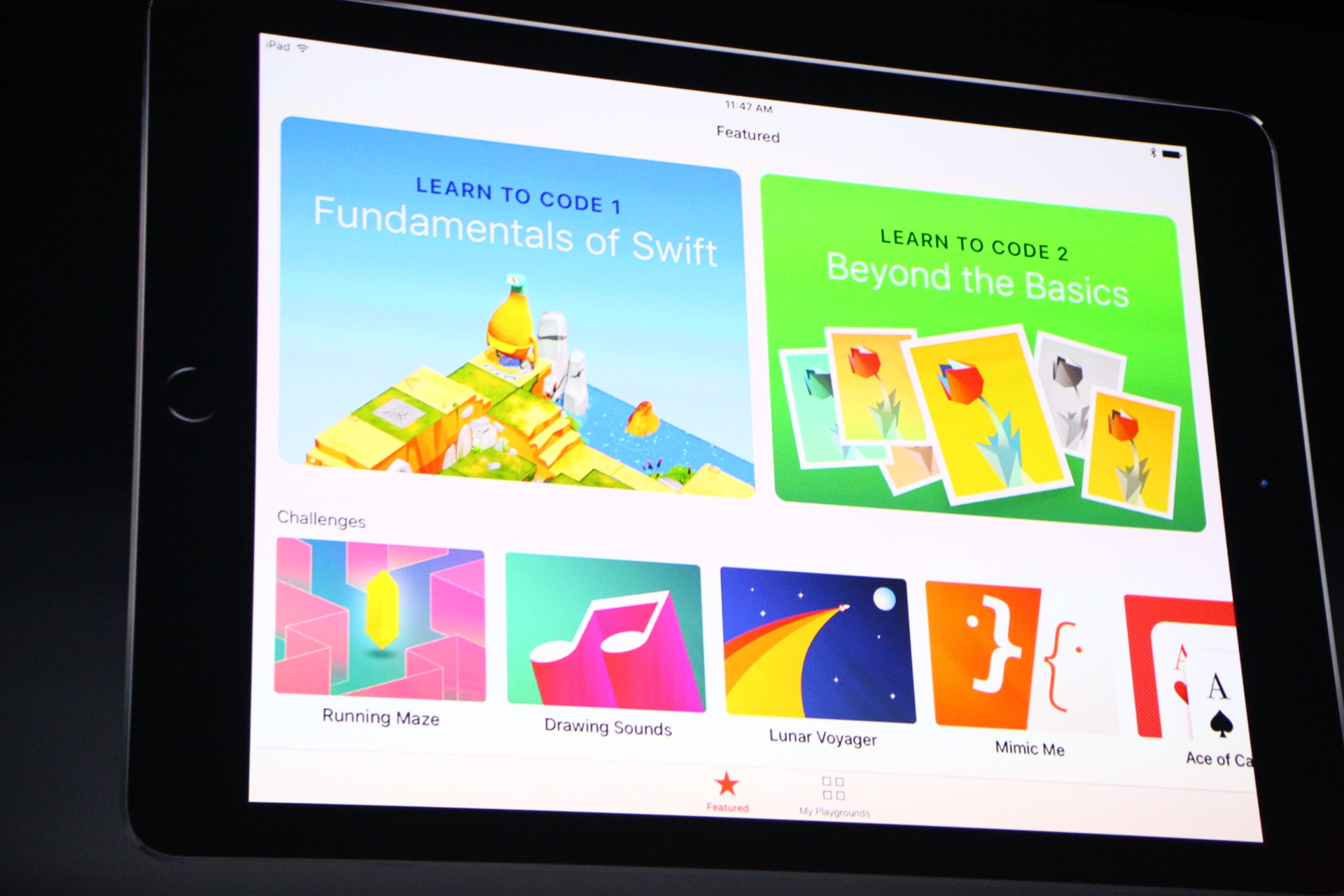 buy popular 51d52 cd1f6 Apple launches Swift Playgrounds for iPad to teach kids to ...