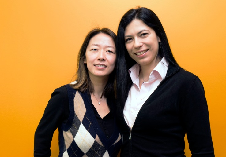 Amy Du, left, and Daniela Braga, co-founders of DefinedCrowd.