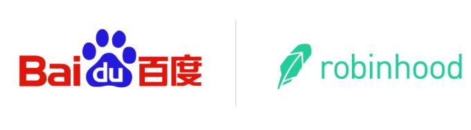 Baidu & Robinhood Logos