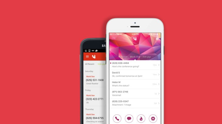 Burner, a service that generates temporary phone numbers