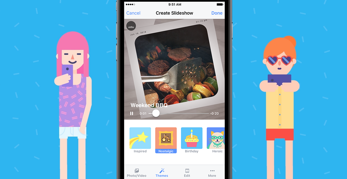 Facebook rolls out Slideshow movie-maker to compete with Google and