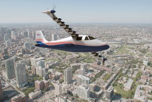 Illustration of NASA's X-57 Maxwell airplane / Image courtesy of NASA Langley/Advanced Concepts Lab, AMA, Inc.