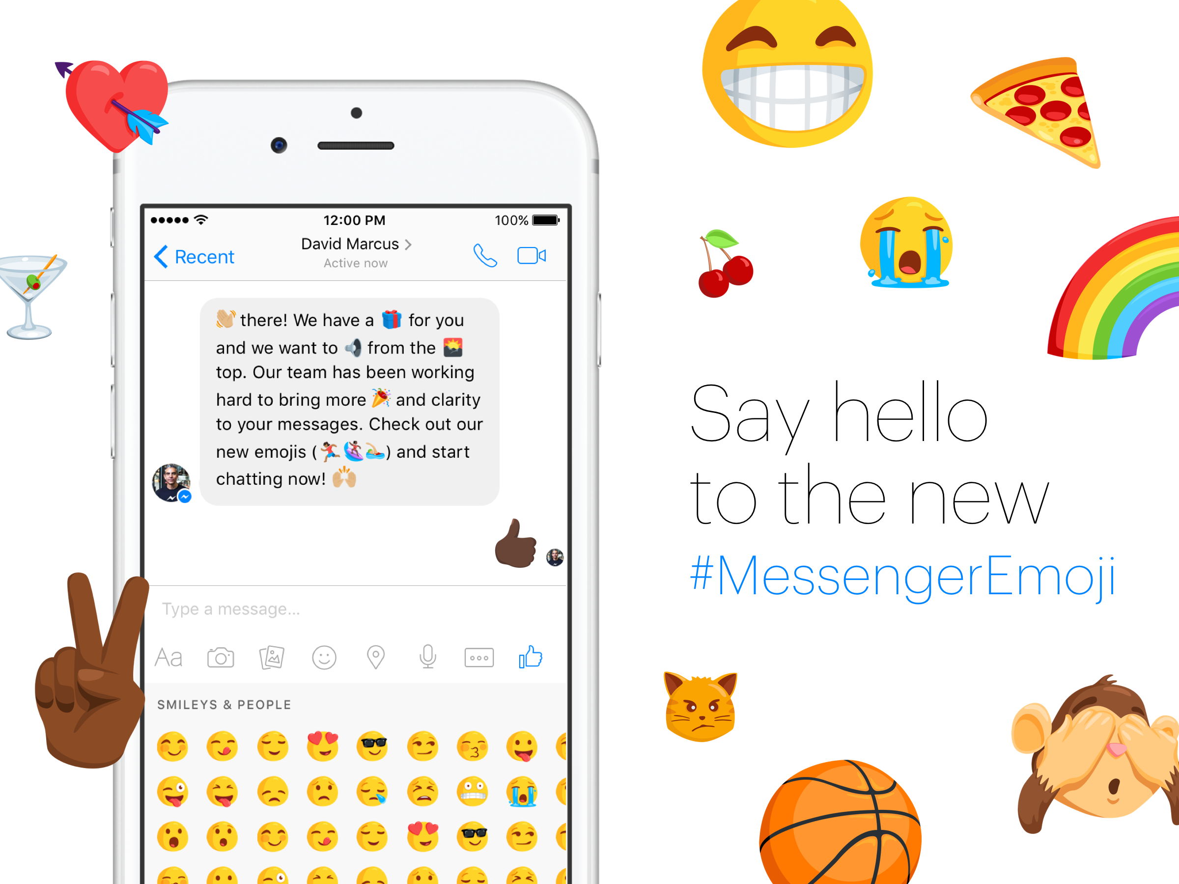 Facebook messenger finally adds diverse emojis techcrunch buycottarizona Image collections