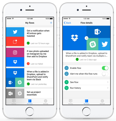 Microsoft Flow, a tool for managing workflows, launches on ...