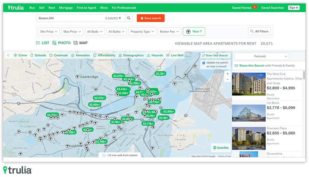 Trulia, The Online Real Estate Search Engine Now Owned By Zillow, Launched  An Interesting New Feature Today That Allows You To Quickly Find Rental  Homes And ...
