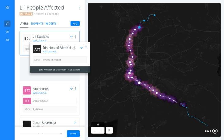 carto makes geographical data visualization and analysis accessible