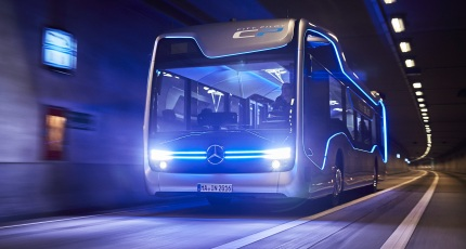 Self-driving Mercedes-Benz bus takes a milestone 12-mile