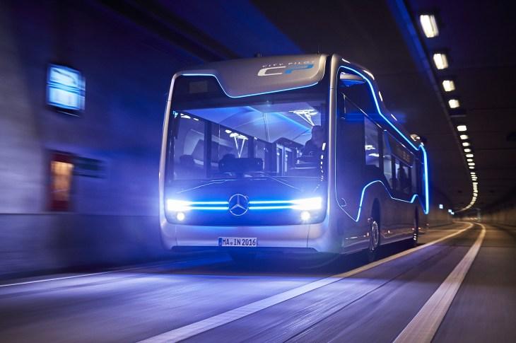 Self-driving Mercedes-Benz bus takes a milestone 12-mile