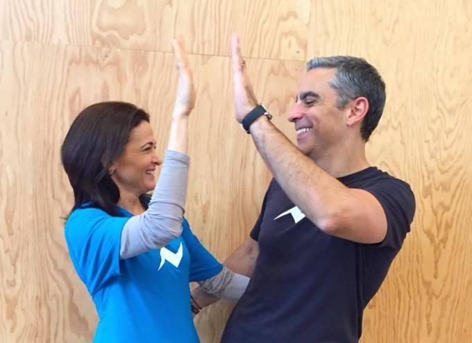 David Marcus and Sheryl Sandberg