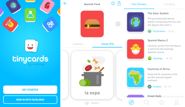 duolingo tiny cards app android