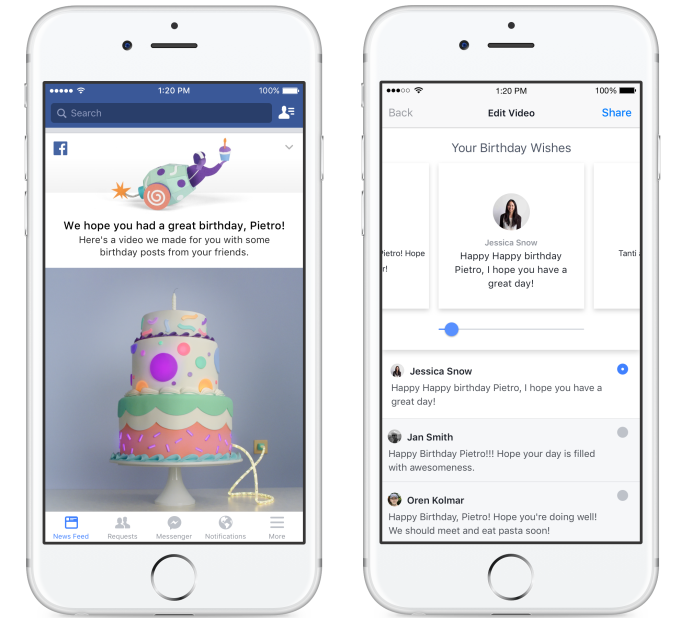 Facebook birthday video editor