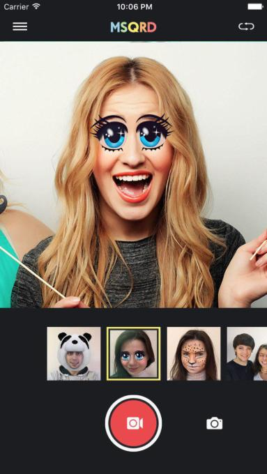 The MSQRD augmented reality selfie filter app Facebook acquired