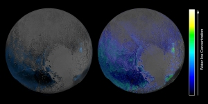 Spectral features of water ice across Pluto's surface / Image courtesy of NASA/JHUAPL/SwRI