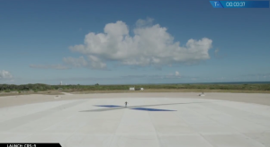 "SpaceX ""Landing Zone 1"" at Cape Canaveral / Screenshot of SpaceX livefeed"