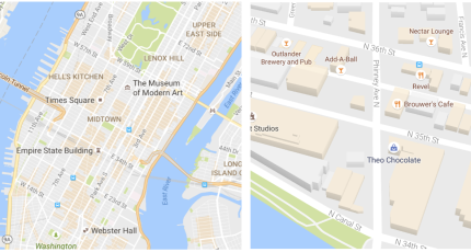 Google Maps gets a cleaner look and starts highlighting areas of ...