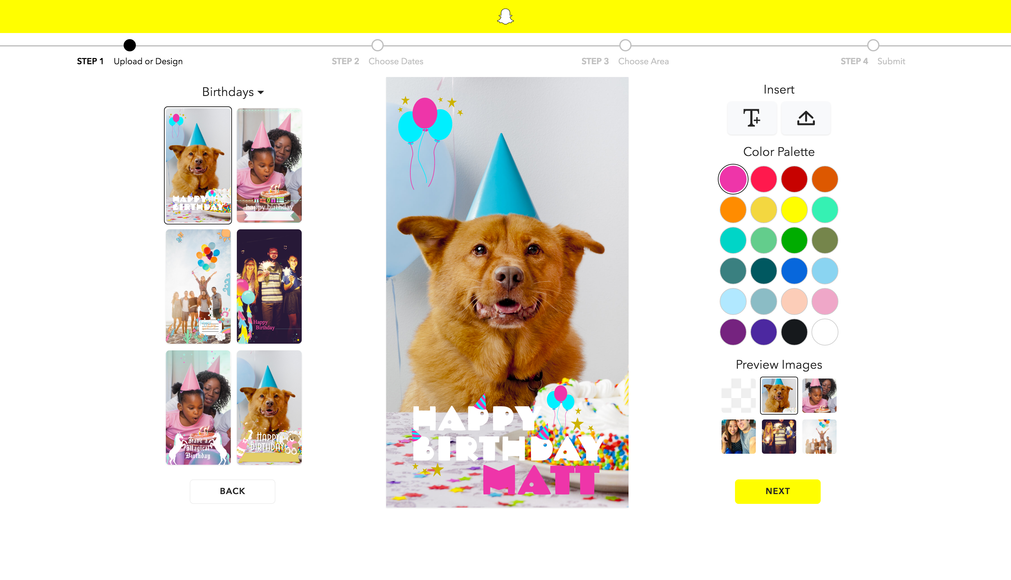 Snapchat makes it easier to create your own on demand geofilters techcrunch for How to make a snapchat geofilter on photoshop