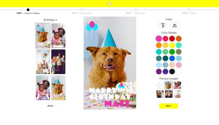 Snapchat Makes It Easier To Create Your Own On Demand Geofilters
