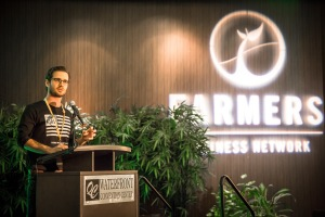 FBN cofounder Charles Baron at the startup's Farmer 2 Farmer 2015 conference in Davenport, Iowa.