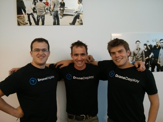 DroneDeploy founders Mike Winn, Nick Pilkington and Jono Millin at AngelPad in 2013.