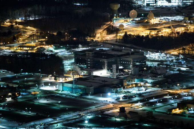 A helicopter view of the National Security Agency January 28, 2016 in Fort Meade, Maryland. (Photo: BRENDAN SMIALOWSKI/AFP/Getty Images)