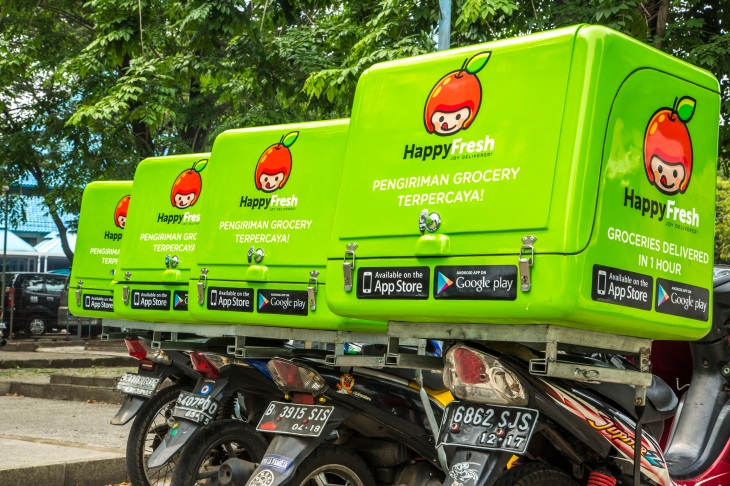 HappyFresh's Fleet of Delivery Vehicles