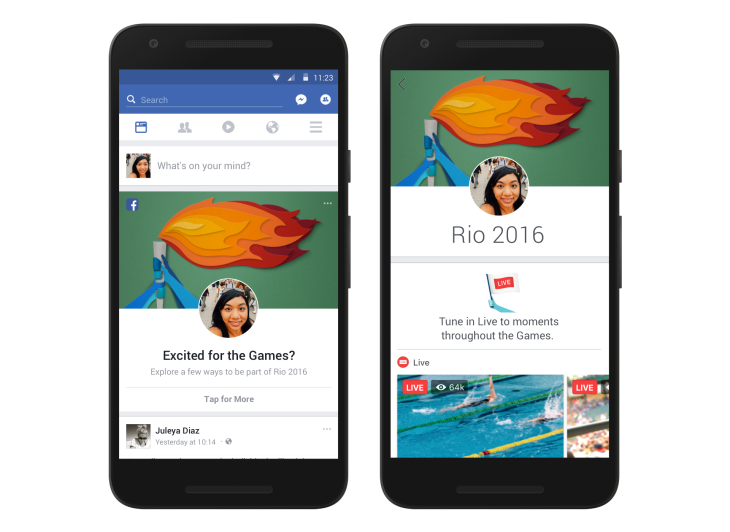 Facebook rolls out a personalized Olympics section in the News Feed ...