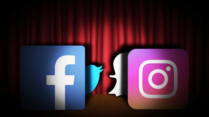 Instagram Snapchat Facebook Twitter