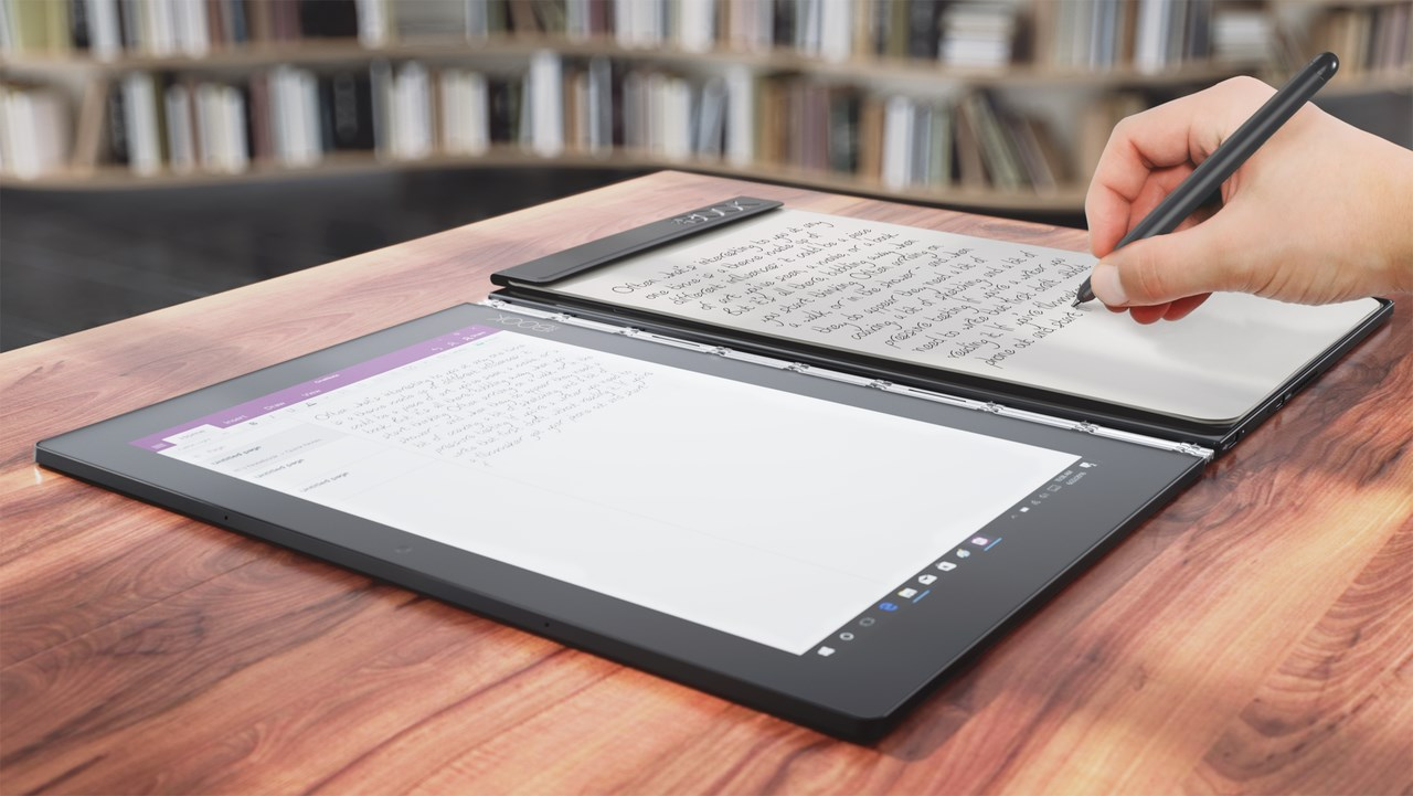 lenovo yoga book flat