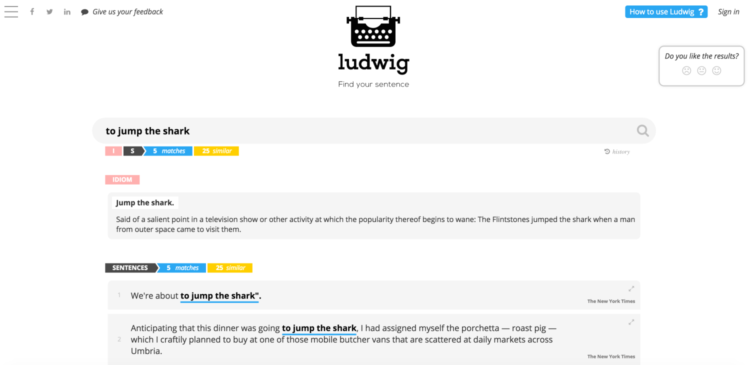Online Linguistic Search Engine Ludwig Helps Get Your English On