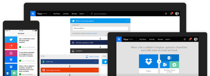 Microsoft Flow, the company's IFTTT competitor, comes to