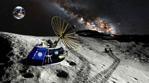 Moon Express lander on moon