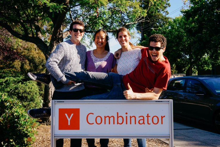 Courtesy of Y Combinator: Joe Wilson (Head of Product), Tiffany Kuo (Head of Marketing and Operations), Alice Melocchi (CTO), Fred Parietti (CEO).