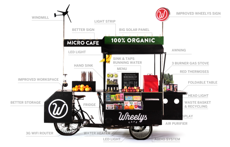 Wheely's Café's most recent version of its bike cafe has everything, including bells and whistles