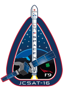 SpaceX JCSAT mission patch
