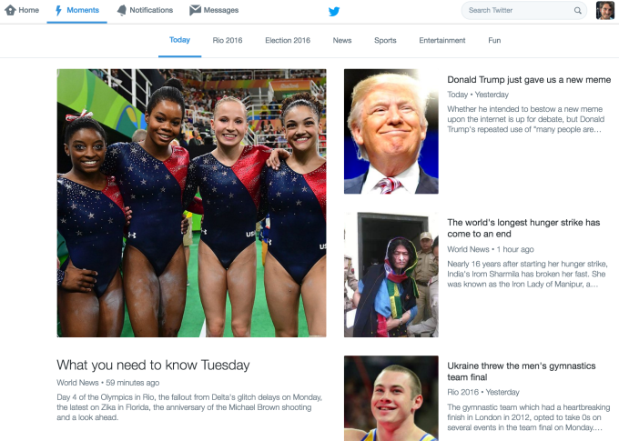 Twitter Moments Web