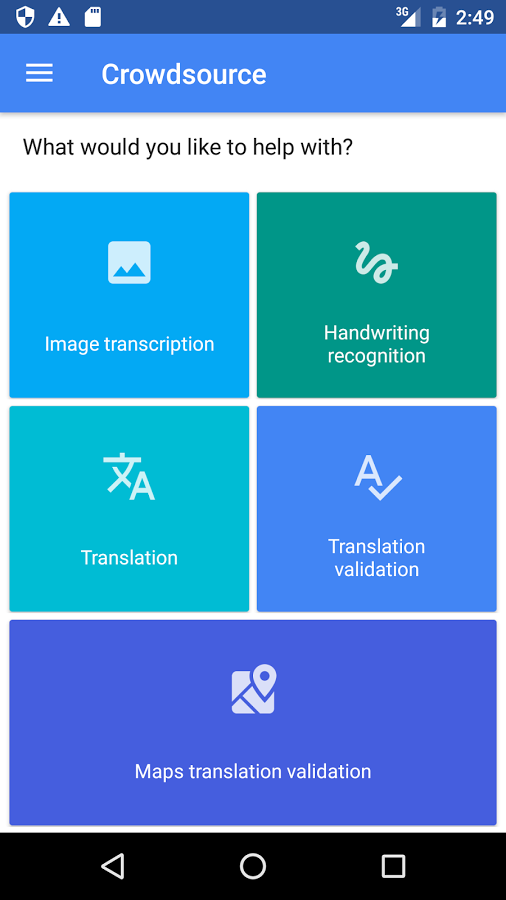 Google's new app Crowdsource asks users to help with translation