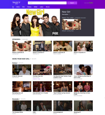 Yahoo launches a TV-watching site, Yahoo View, in