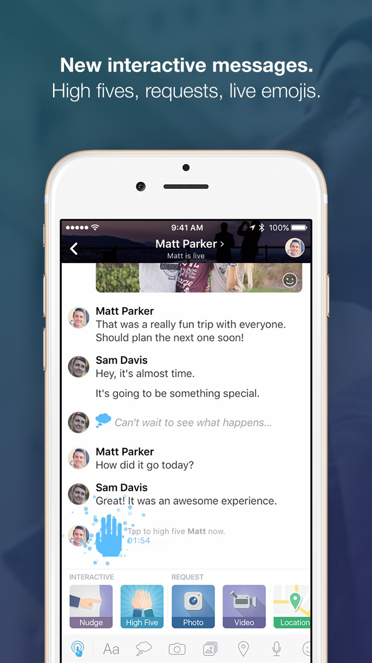 Amity's interactive messaging app one-ups iOS 10's iMessage