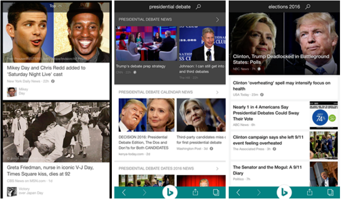 Microsofts bing mobile apps get support for googles amp techcrunch like googles search engine bing detects when a site is available in an amp version and then loads that instead of the heavier regular site publicscrutiny Images