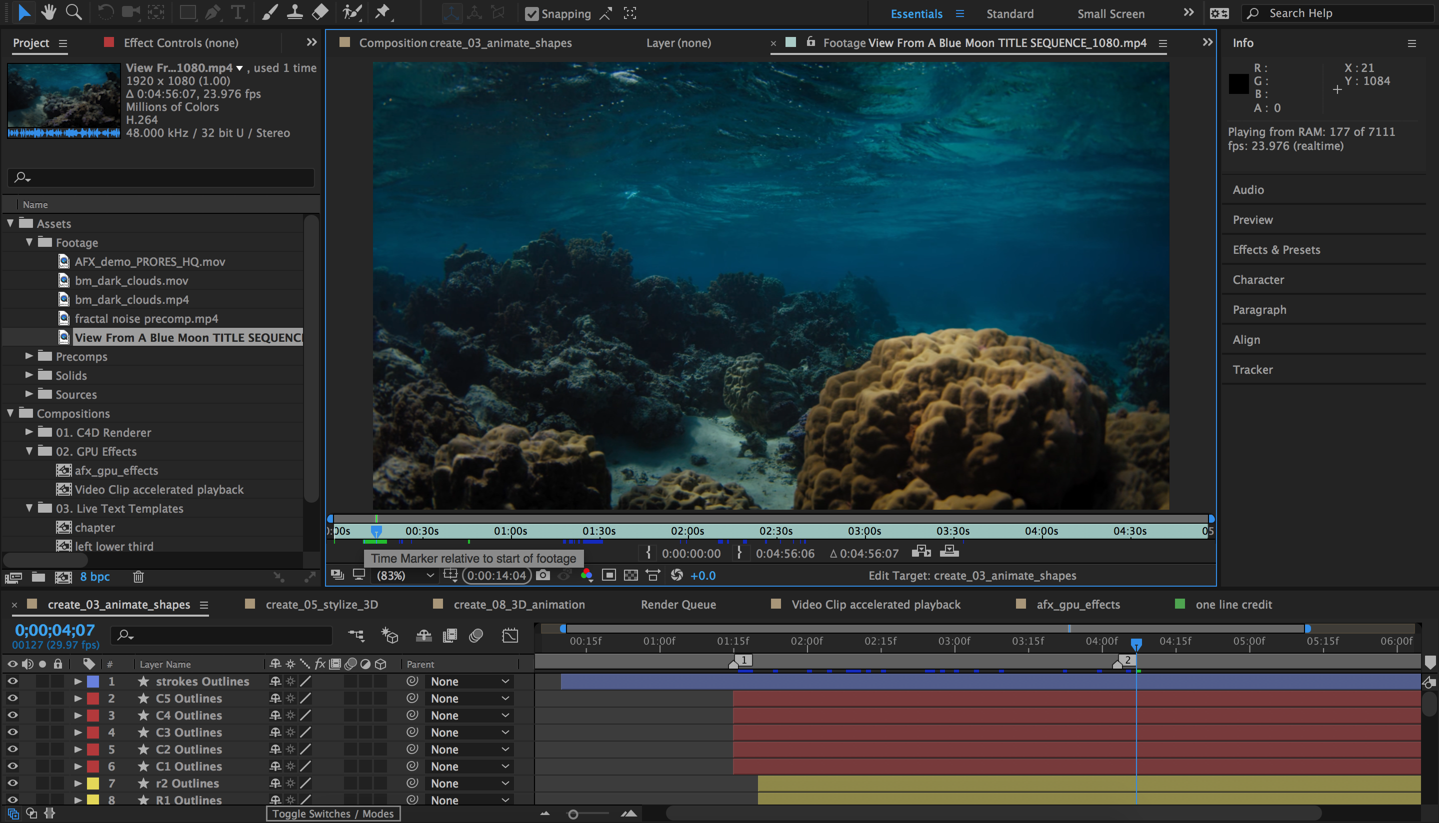 After Effects - Realtime Source Footage Playback