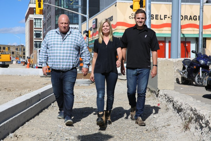 Dozr co-founders Tim Forestell, Erin Stephenson and Kevin Forestell.