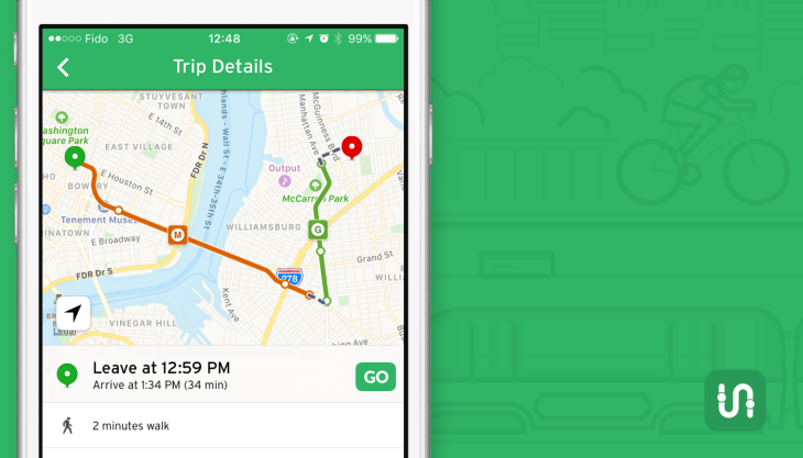 Transit's public transportation tracking app gets a big