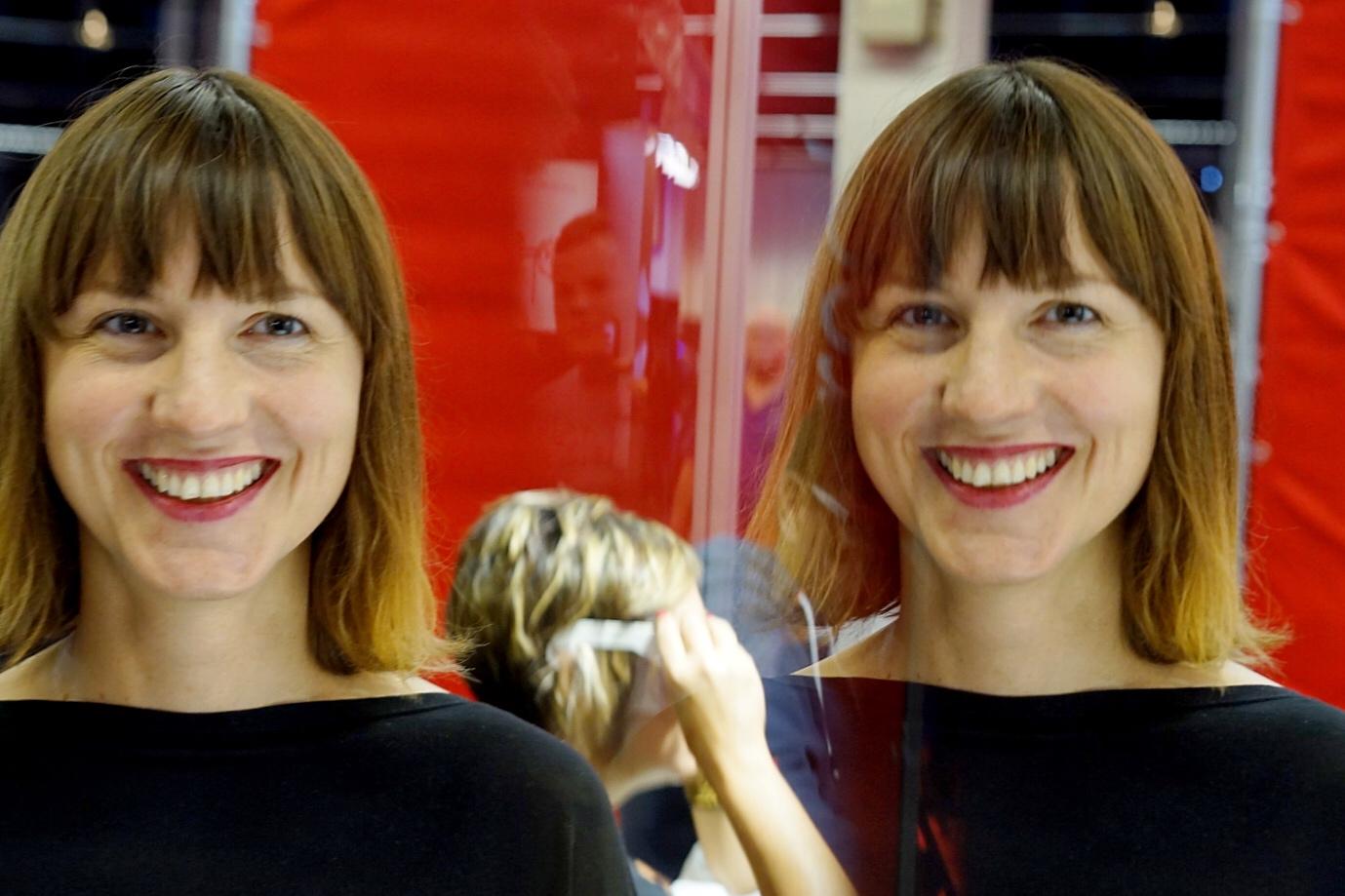 Íris Ólafsdóttir, Kúla's founder and CEO, photographed at Photokina in Cologne with the company's SLR product