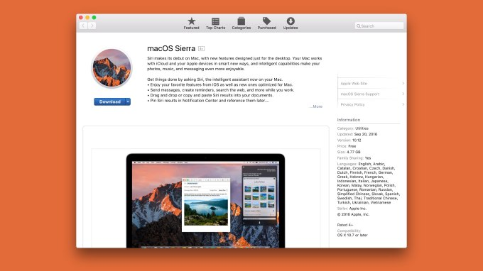 macOS Sierra is now available to download | TechCrunch