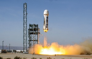 Fourth successful launch of the same New Shepard vehicle during test flights / Image courtesy of Blue Origin